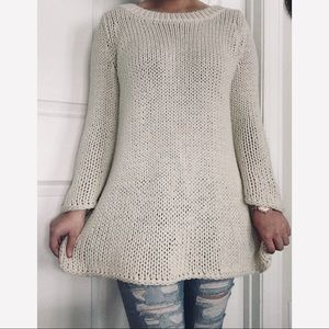 Soft Surroundings | cream knit sweater M